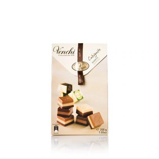 Конфеты шоколадные Venchi Кубигусто Ассорти - 200 г (Италия)