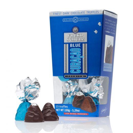 Конфеты шоколадные Трюфели Golden Candies с ликёром Фруко Шульц Блю Кюрасао - 150 г (Россия)