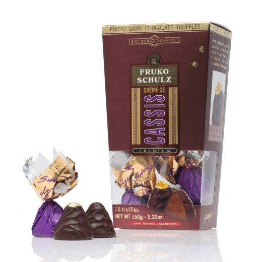 Конфеты шоколадные Трюфели Golden Candies с ликёром Фруко Шульц Крем де Кассис - 150 г (Россия)
