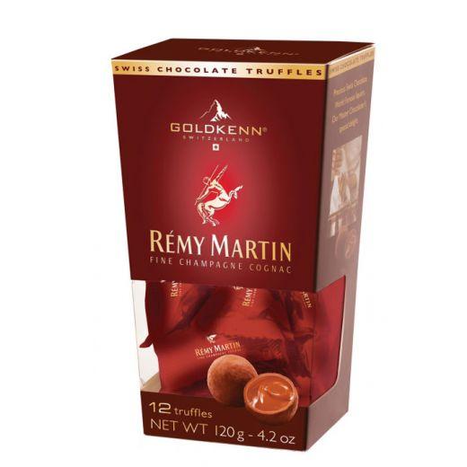Конфеты шоколадные Трюфели Goldkenn с кремовой начинкой Реми Мартин - 120 г (Швейцария)