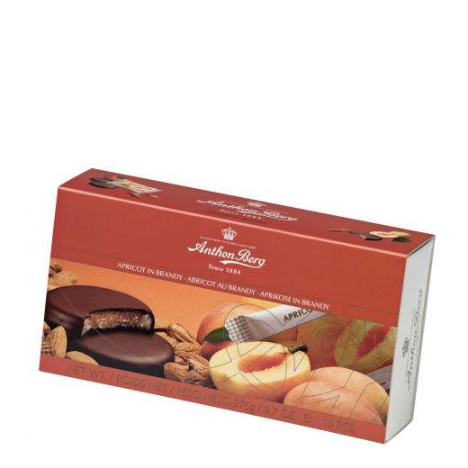 Марципан Anthon Berg в тёмном шоколаде «Абрикос в бренди» - 275 г (Дания)