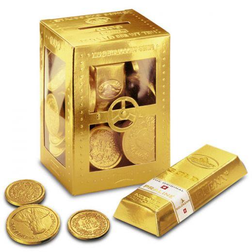 Набор шоколада Goldkenn Золотой сейф Ассорти - 200 г (Швейцария)