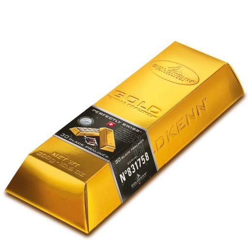 Набор шоколада Goldkenn Золотой слиток тёмный пралине - 300 г (Швейцария)