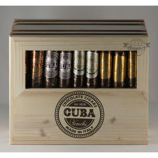Сигары шоколадные Venchi Ассорти шоколадных конфет в деревянном ящике - 54 шт. х 100 г  (Италия)