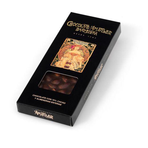 Шоколад Amatller Горький 70% какао с миндалём - 250 г (Испания)