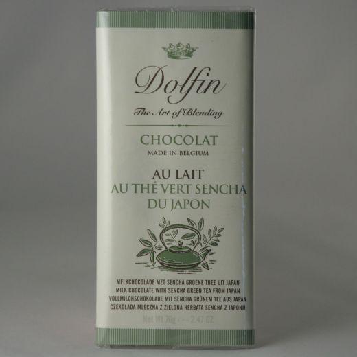 Шоколад Dolfin Молочный с зелёным чаем Сэнтя - 70 г (Бельгия)