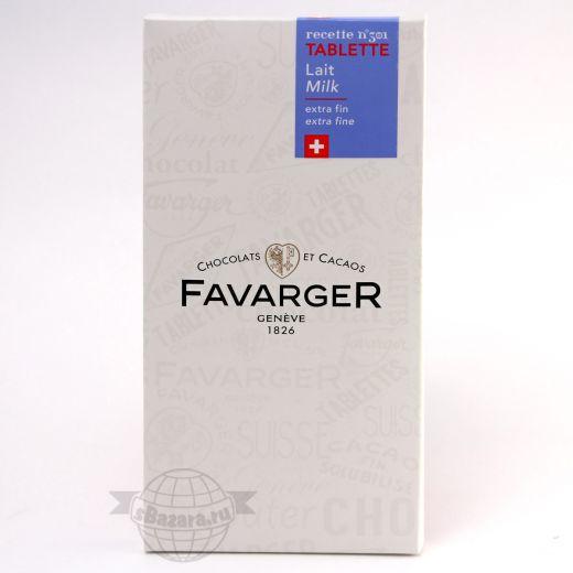 Шоколад Favarger Молочный - 100 г (Швейцария)