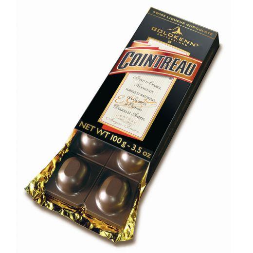 Шоколад Goldkenn с начинкой Куантро - 100 г (Швейцария)