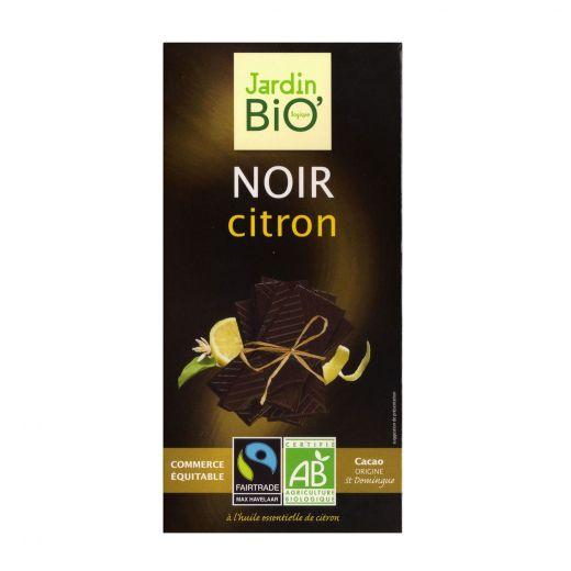 Шоколад Jurdin Чёрный с лимоном БИО – 100 г (Франция)