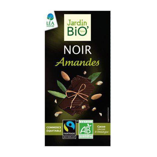 Шоколад Jurdin Чёрный с миндалём БИО – 100 г (Франция)