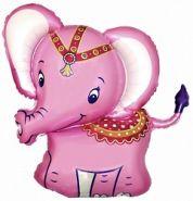 """Слонёнок розовый, 32""""/82 см"""