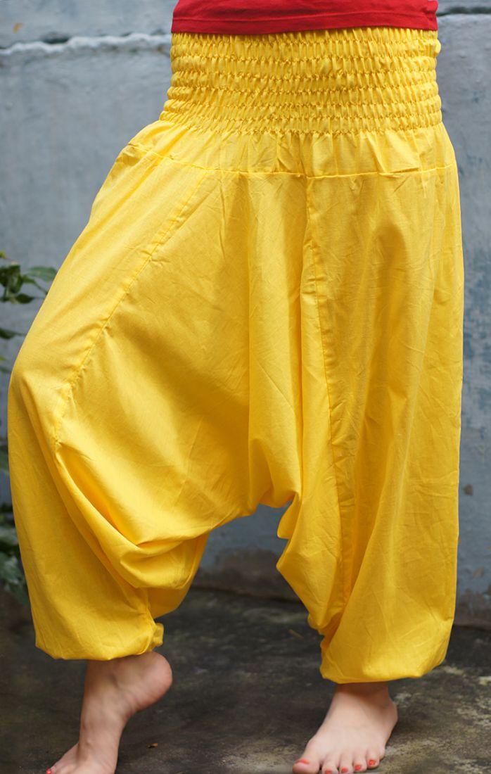 Жёлтые штаны алладины (отправка из Индии)