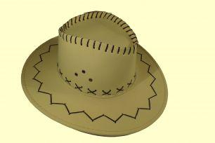 Шляпа ковбоя цвет ярко лимонный
