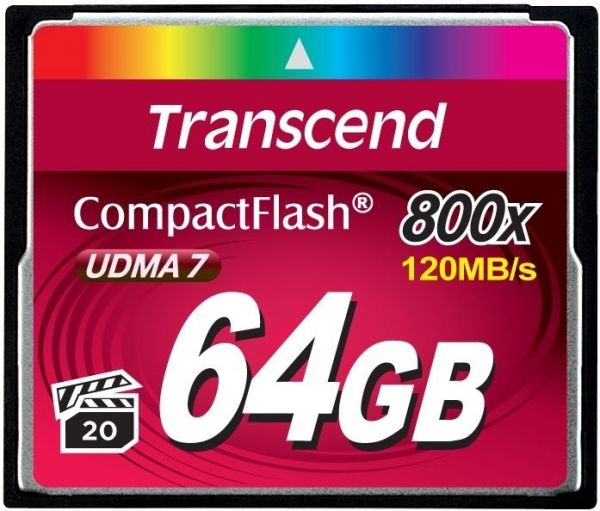 64GB карта памяти CF Transcend Ultra Speed 800X