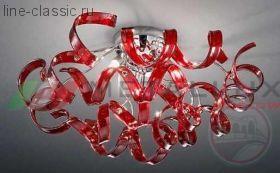 Люстра METALLUX 206.330.02 хром/белый 9 vetri