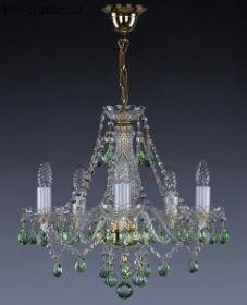 Люстра ART GLASS Магда 5 ц.хруст.6006 синий