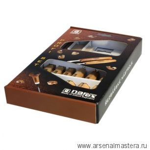 Набор резцов Narex Standart 894610, 6шт и брусок в картонной коробке 8946 10
