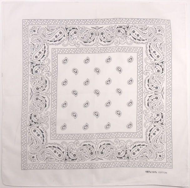 Бандана огурцы в квадрате (белая)