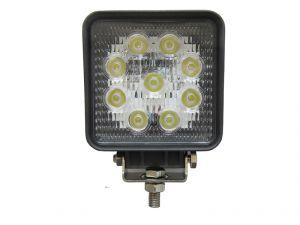 Квадратная светодиодная LED фара рабочего света 27W