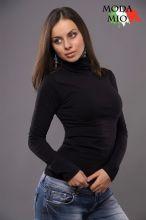 Водолазка женская черная
