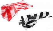 Платок зебра (красная или черная полоска) 45 см