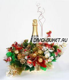 """Букет из конфет №517 """"Новогодние причуды"""""""