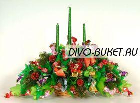 """Букет из конфет №507 """"Новогодние свечи"""""""