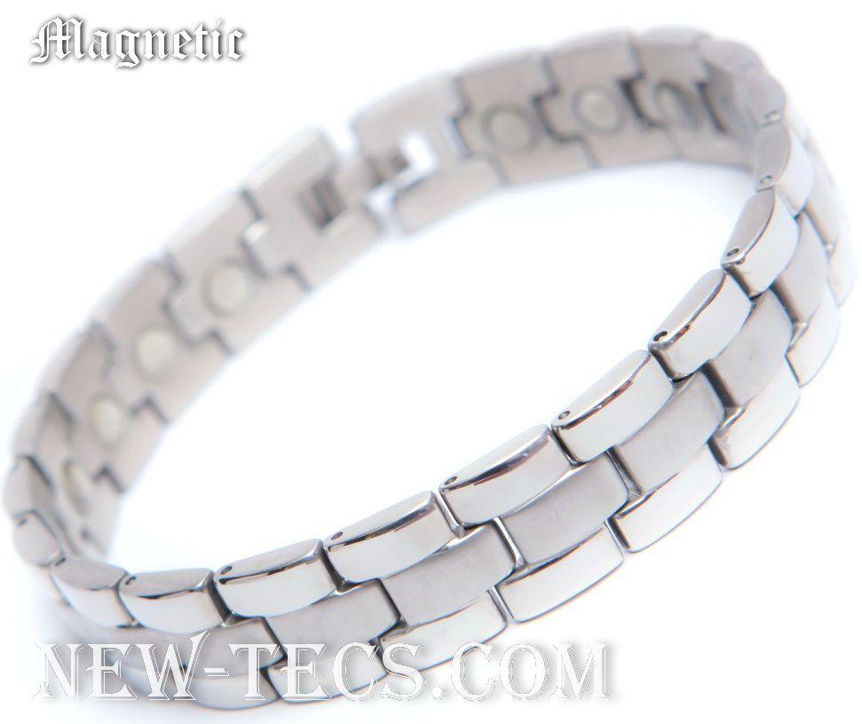 Магнитный браслет из титана и стали