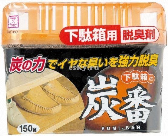 Дезодорант-поглотитель неприятных запахов, с древесным углём, для обувных шкафов  KOKUBO 150 г