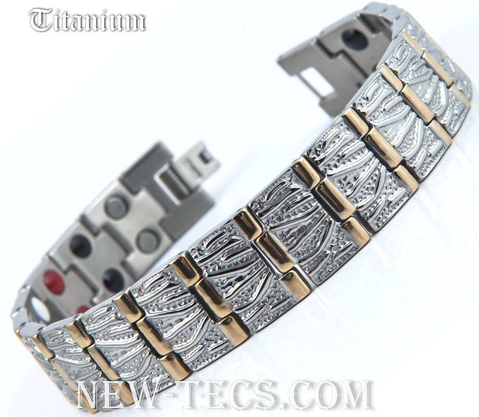 Титановый магнитный браслет TY116DWGNT-Mj-titanium
