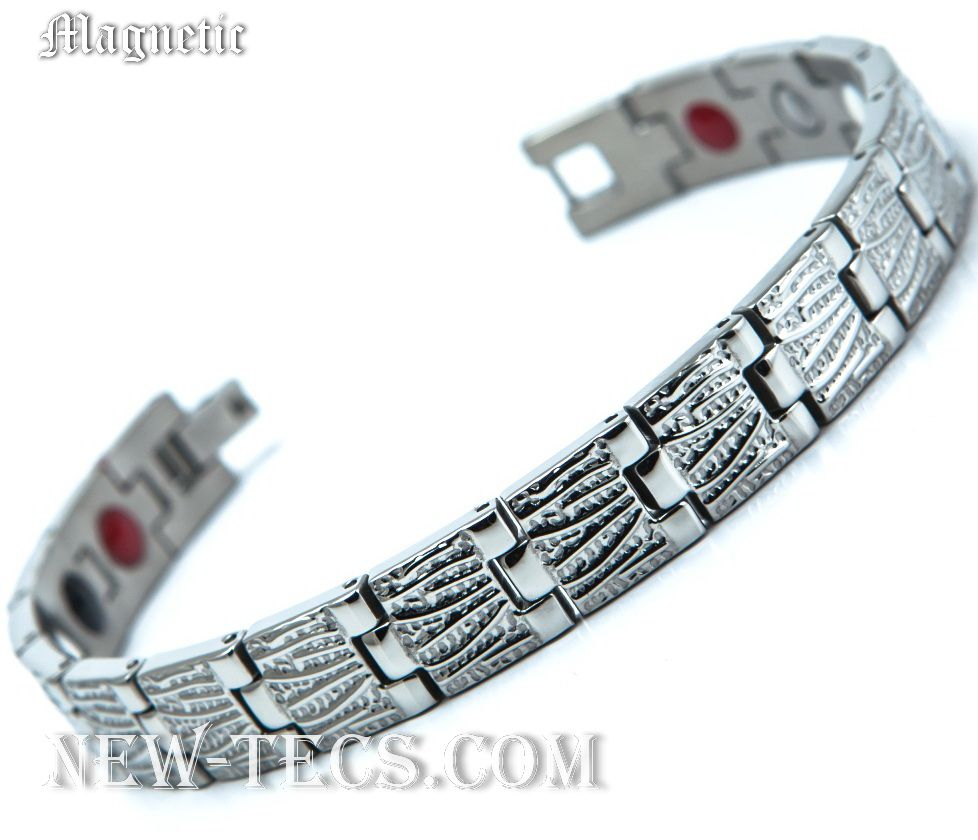 Магнитный браслет 04-116D1steel