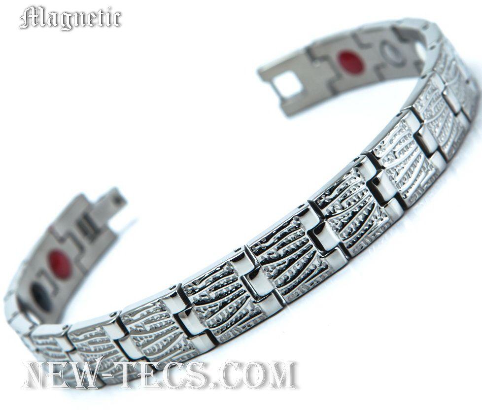 Магнитный браслет 116D1NT-Mj-steel