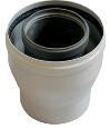 Коаксиальный переходник с диаметра 80/125 мм на диаметр 60/100 мм KHG 71411941