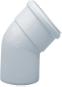 Отвод 45° алюминиевый эмалированный,  диам. 80 мм 0080-000045 STOUT