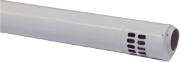 Коаксиальная труба полипропиленовая с наконечником, диам. 80/125 мм, длина 1000 мм, HT  KHG 714088910