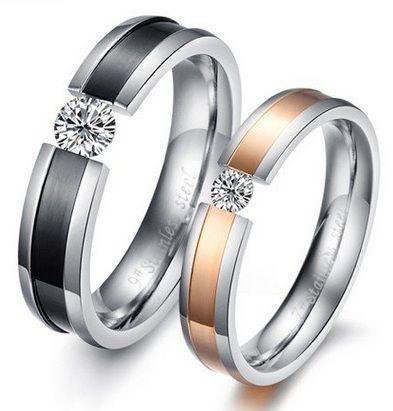 Обручальные кольца с красивым камнем
