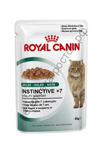 Royal Canin для кошек Instinctive +7 в желе, пауч 85 гр. уп. 12 шт.