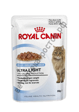Royal Canin для кошек Ultra Light (в желе), пауч 85 гр. уп. 12 шт.