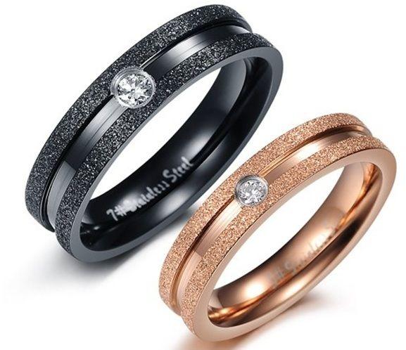 Парные кольца с алмазной крошкой