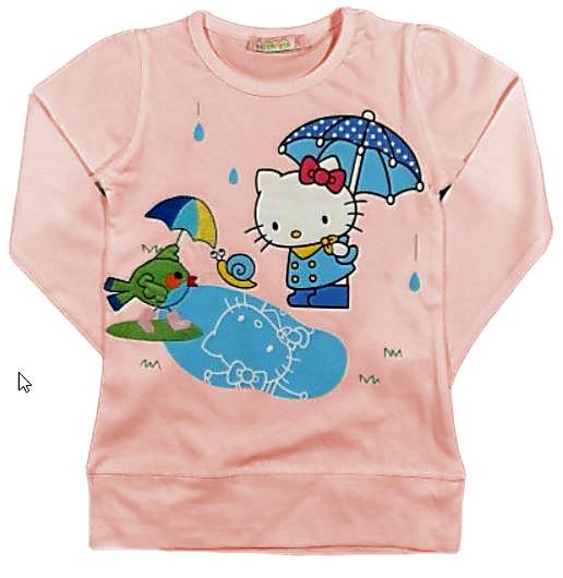 Розовая кофта для девочки Hello Kitty