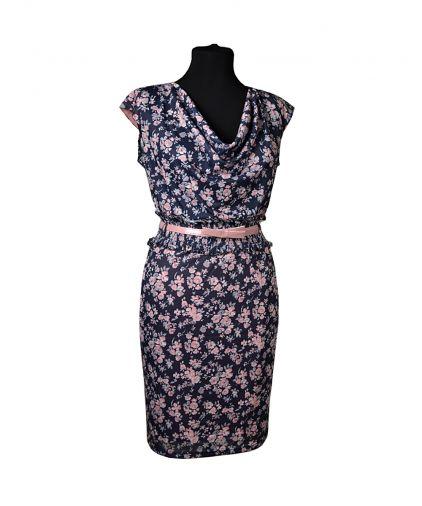 Нежное платье из тонкого трикотажа с россыпью мелких цветочков