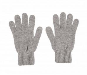 кашемировые перчатки женские (100% драгоценный кашемир) , цвет светло-cерый Light Grey
