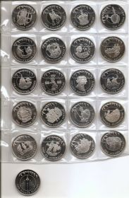 Золотой юбилей Коллекция монет 50 пенсов  Фолклендские острова 2002