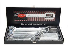 5161 Набор ключей комбинированных Rock FORCE,  16 предметов в кейсе.