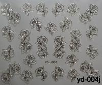 """Наклейка для дизайна ногтей на клеевой основе """"Серебро"""", Yd-004j"""
