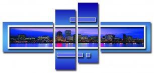 Синий город (размер M)