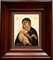 Владимирская Икона Божьей Матери (21х24), простой киот