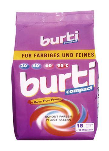Burti Compact концентрированный cтиральный порошок для цветного и тонкого белья 900 г