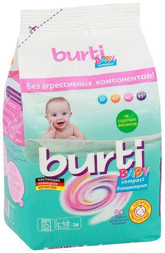 Burti Compact Baby концентрированный стиральный порошок для детского белья 900 г