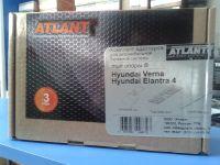 Багажник на крышу на Hyundai Verna, Атлант, аэродинамические дуги